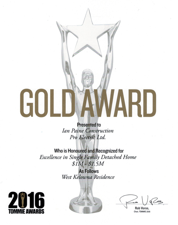 Pro Electric Ltd. is 2016 Tommie Gold Award Winner